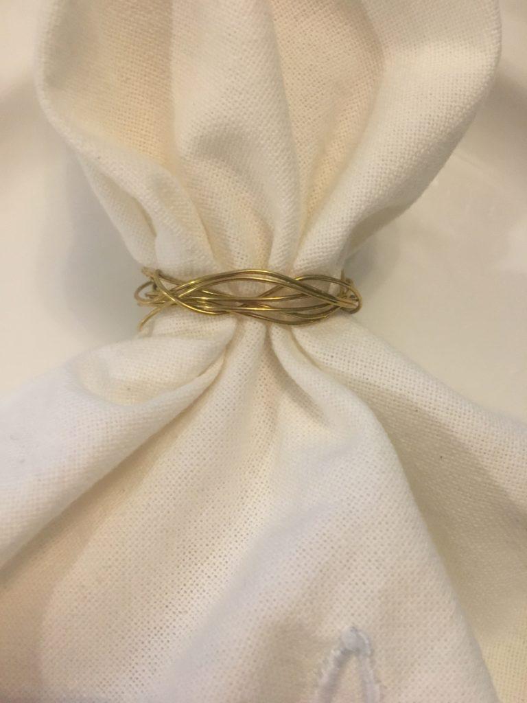 DIY Gold Wire Napkins