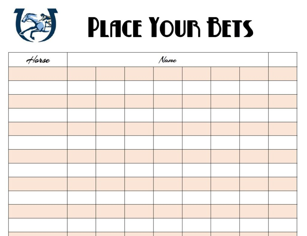 photograph relating to Printable Kentucky Derby Field known as Cost-free Kentucky Derby Printables The Properly Dressed Desk